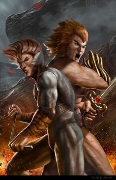 Awesome fan art for animated TV shows including Thundercats, Transformers, Teenage Mutant Ninja. Thundercats Characters, Thundercats Cartoon, He Man Thundercats, Cartoon Fan, Cartoon Characters, Super Cat, Saturday Morning Cartoons, Fandom Crossover, Classic Cartoons