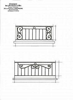 Compagnie des Ferronniers d Art - Appuis de fenêtre en fer forgé de style Classique