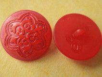 7 rote Knöpfe 24mm (5075-7) Mantelknöpfe Knopf rot