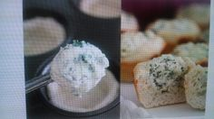 Baked Individual Spinach dip bread bowls in a Muffin pan