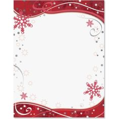 Holly Christmas Letterhead Border Papers | PaperDirect | Ideas for ...
