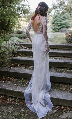 lihi hod 2019 bridal long sleeves deep v neck full embellishment lace elegant modified a line wedding dress backless v back medium train bv -- Lihi Hod 2019 Wedding Dresses Luxury Wedding Dress, Bohemian Wedding Dresses, Fall Wedding Dresses, Bridal Dresses, Wedding Gowns, Israeli Wedding Dress Designer, Designer Wedding Dresses, Open Back Wedding Dress, Mod Wedding