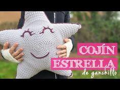 Cómo hacer un cojín ESTRELLA   How to crochet a star cushion