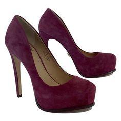 Pre-owned Pour La Victoire Plum Suede Platform Heels ($79) ❤ liked on Polyvore featuring shoes, pumps, purple, purple suede shoes, purple shoes, high heel shoes, purple platform shoes and purple suede pumps http://www.swankyheels.com