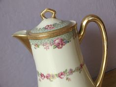 antique Limoges France teapot coffee chocolate by ShoponSherman, $139.00