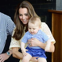 Prince George's Adorable Zoo Day! And See Kate Middleton Lovely in Lemon Eyelet  #InStyle