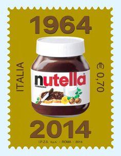 """Nutella - 1964 - 2014 cinquant'anni di golosità-nasce nel 1964 ma le sue origini risalgono al 1945 sotto il nome di """"Supercrema"""""""