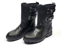 Supertrash Bucklemotor boots - zwart