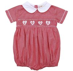 6ed177b96d22 Babeeni Cute Heart Smocked Baby Boy Girl Bubble Romper 6m