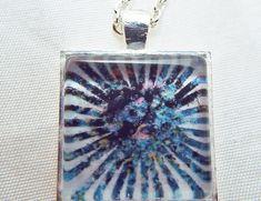 Pendant Necklace Jewelry Bubble Burst Bubbles Blue by Zedezign, $15.00