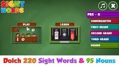 Preschool Sight Words, Dolch Sight Words, First Grade, Second Grade, Grade 2, Kindergarten Learning, Kids Learning, Teacher Portfolio, Spelling Games