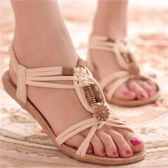 women shoes ONLY FOR YOU 331267 - NEWCHIC Mobile Girls Sandals, Beach Sandals, Strap Sandals, Gladiator Sandals, Women's Shoes Sandals, Women Sandals, Shoes Women, Flat Sandals, Flat Shoes