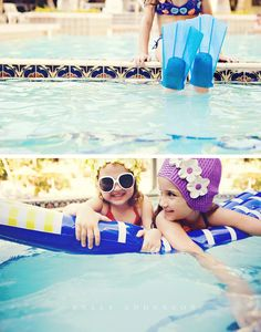 Swim Cap Invitation Inspired Summer Pool Party; photo credit: Kelly Anderson Photography.