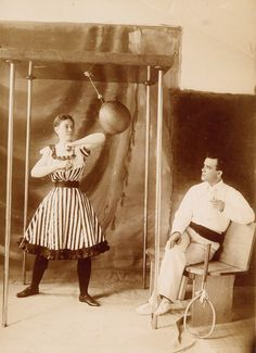 """Belle Gordon, """"Champion Lady Bag Puncher of the World.""""Belle and her sister Minnie claimed to be the originators of vaudeville """"lady boxing acts,"""" in which they entertained crowds with their speed and dexterity. Belle won the title of """"champion lady bag puncher of the world"""" before 1913."""