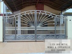 Main Steel Gate Design Latest Main Gate Designs Latest Main Gate for sizing 1024 X 768 Design Steel Gates And Fences - A driveway usually serves a practica New Gate Design, Iron Main Gate Design, Grill Gate Design, House Main Gates Design, Fence Gate Design, Front Gate Design, Latest Main Gate Designs, Gate Designs Modern, Wrought Iron Driveway Gates