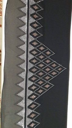 This Pin was discovered by Sib Black Abaya, Bargello, Baby Knitting Patterns, Embroidery Designs, Diy And Crafts, Tapestry, Couture, Board, Straight Stitch