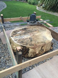 Scrap wood router jig. For flattening large log disc                                                                                                                                                                                 More
