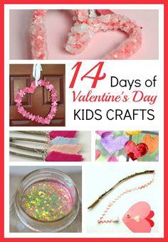 14 days of Valentine's day kids crafts round up
