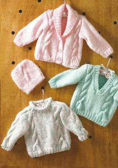 Instant Download PDF - Cable Chunky Cardi, Jumper and Hat Knitting Pattern (11)