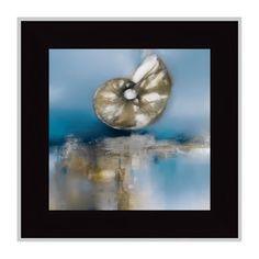 Tangletown Fine Art Blue Shores Nautilus Framed Wall Art by J. Prior, As Shown Framed Canvas Prints, Canvas Frame, Canvas Art, Metal Wall Art, Framed Wall Art, Wall Art Decor, Painting Frames, Painting Prints, Fine Art Prints