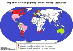 Map of where in the world same-sex marriages are available or are underconsideration Equality, Marriage, Posts, Map, World, Memes, Social Equality, Valentines Day Weddings, Messages