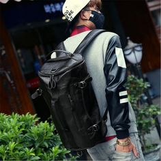 Sport Bag Backpack Gym Bag Fitness 3 Functions Shoulder Bags Handbag Soft  PU Leather Waterproof Men bd87fbc63a879