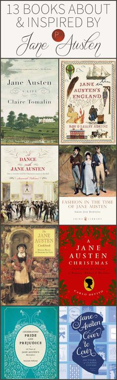 Parchment Girl-13 Books About & Inspired by Jane Austen- The collection of books here is really diverse, ranging from the memoir written by her nephew to trivia to recipes and more. It would be interesting to see how these people interpret her life and apply it to present day and what their sources were. #janeausten #austeninspired