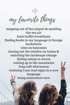 these are a few of my favorite things// travel edition