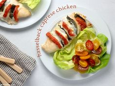 Meet your new favorite dinner - hasselback caprese chicken! Wheat Free Baking, Olive Oil And Vinegar, Caprese Chicken, Boneless Skinless Chicken, Fresh Mozzarella, Popular Recipes, Cooking Time, Yummy Food, Stuffed Peppers