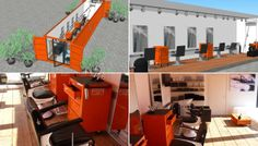 Barbershop in a container with Takara Belmont Appollo2 chairs