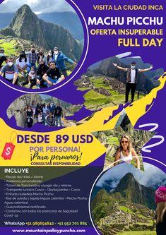 Oferta Machu Picchu para peruanos Machu Picchu, Inca, Main Attraction, Trekking, Tours, City, Movie Posters, Image, Transportation