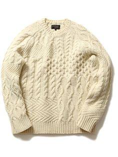 Amazon   (ビームスプラス) BEAMS PLUS / クレイジーアランニット 11150537048 WHITE M   セーター 通販