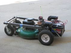 Arduino R/C Lawnmower.  I want! ;). Although you don't get any exercise this way....