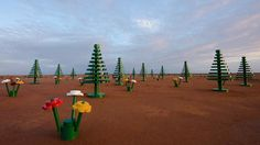 Lego forest in Broken Hill, New South Wales