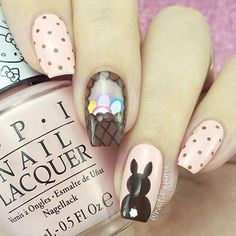 11 More Easy and Simple Easter Nail Art Designs: #2. SIMPLE & ELEGANT