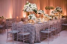 Click to see some of our very favorite real-wedding photos from 2015, including tables set with all-white flowers