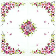 20 x Paper Napkins for Decoupage Party Table Lavender Flowers 49