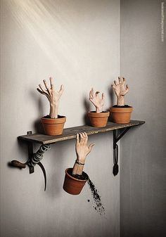 @sarahrothpletz John needs to cast some super creepy zombie hands!