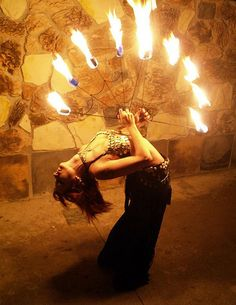Fire Fans by Fire Gypsy, via Flickr