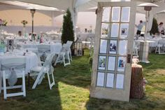"""It's no secret that we L.E an outdoor wedding at here SMP, especially when the fête is """"rustic, romantic + chic"""" and held in one of the prettiest tents I ever did see! This glam bride enlisted her family + friends to transform her Old Door Tables, Dream Wedding, Wedding Day, Frames For Sale, Outdoor Events, Old Doors, Wedding Reception, Wedding Inspiration, Backyard"""