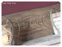Krek Wak Wou: Letters op hout strijken