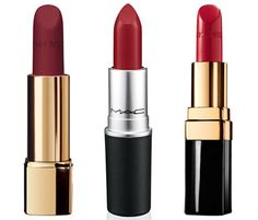 Signature Reds....(from left): Chanel Rouge Allure Velvet Matte Lip Colour in La Fascinate (available November), $32; chanel.com. M.A.C. Lipstick in Ruby Woo, $14.50; maccosmetics.com. Chanel Rouge Coco Crème Lip Colour in Paris, $32; chanel.com.      I personally do not recommend mac lipsticks.  I haven't had any luck with them at all for some reason and I can't figure out what all the fuss is about.  BUT I can't wait to try the Chanel on the left!!!