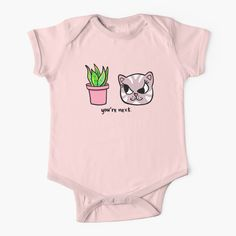 """""""You're Next: Evil Cat and House Plant"""" Baby One-Piece by grumblebeeart 