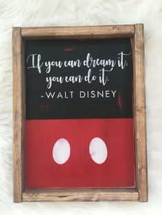 Mickey Mouse Walt Disney Inspirational Quote Wood Sign by Oak Grove Design Walt Disney Inspirational Quotes, Disney Quotes, Disney Christmas Decorations, Disney Home Decor, Disney Wall Decor, Disney Kitchen Decor, Disney Sign, Disney Art, Disney Style