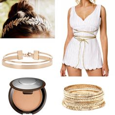 Become a gorgeous, #greek #goddess this #halloween! ✨Check out my top 10 #diy #cute #halloweencostumes! 🎃 Link in bio! #greekgoddess #golden #cutecostumes #october #thenearlyperfect #fall #autumn #halloweencostume