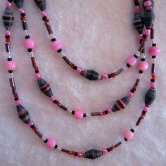 Handmade Paper Bead Jewelry Set by Custom2You on Etsy, $40.00