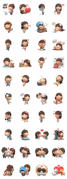 More Fun and cute HJStory stickers to use to chat with your other half!