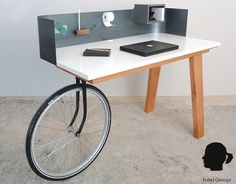 Urban Nomad desk #bikewheel