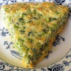 Crustless broccoli quiche is a perfect brunch recipe.
