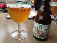First beer on the Belgian Beer Trip of 2012. Gentse Tripel.